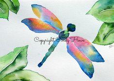 Digital art, digital download, dragonfly, dragonflies, watercolor dragonfly,