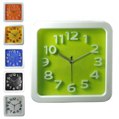 tick tock, tick tock goes your promotional clock with your name or logo imprinted on it.