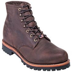 Chippewa Boots: Men's USA-Made Brown 25290 Engineer Boots #CarharttClothing #DickiesWorkwear #WolverineBoots #TimberlandProBoots #WolverineSteelToeBoots #SteelToeShoes #WorkBoots #CarharttJackets #WranglerJeans #CarhartBibOveralls #CarharttPants