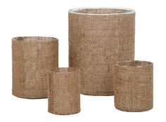 Burlap vases Jayson Home, would look great with a plant or fall flowers.