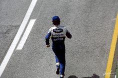 Senna runs to join Sid Watkins in the Medical car after Ratzenberger's fatal crash,Imola, April 30th 1994