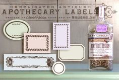 Apothecary Labels - free printable