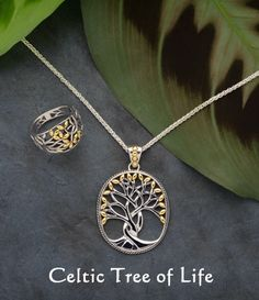 Rowan Tree of Life Necklace and Ring