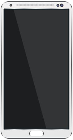 White SmartPhone by @ilnanny, white version for smartphone, on @openclipart