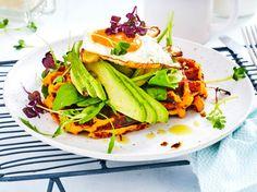 Unser beliebtes Rezept für Süßkartoffel-Waffeln und mehr als 55.000 weitere kostenlose Rezepte auf LECKER.de.