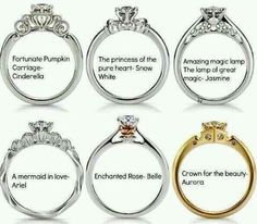 Disney rings.  Damn why didn't I know about this sooner??  Sleeping Beauty is our fave of the movies that would've been an awesome ring ;]