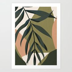 Tropical Leaf- Abstract Art Canvas Print by thindesign Leaf Art, Tropical Leaves, Canvas Art Prints, Leaf Prints, Diy Painting, Painting Inspiration, Modern Art, Cool Art, Art Drawings