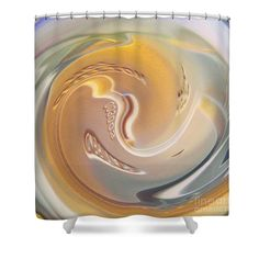 """Hot Coffee Light Shower Curtain $65 at http://fineartamerica.com/products/hot-coffee-light-sarah-loft-shower-curtain.html  This shower curtain is made from 100% polyester fabric and includes 12 holes at the top of the curtain for simple hanging. The total dimensions of the shower curtain are 71"""" wide x 74"""" tall."""