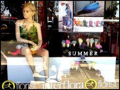 Summer Window-Display by Melton Florist -Ice Cream !
