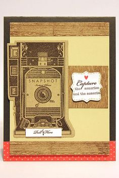 Capture The Memories Card by Heather Nichols for Papertrey Ink (July 2012)