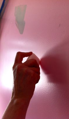 To fill nail holes--- use white soap. It works like a charm! I should remember this...