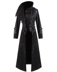 Punk Rave Scorpion Mens Coat Long Jacket Black Gothic Steampunk Hooded Trench | eBay