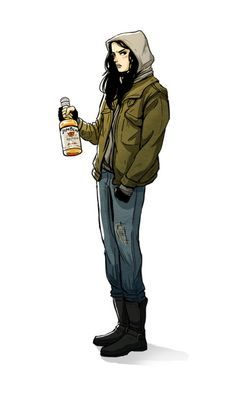 Jessica Jones by latrotoxinn Jessica Jones Netflix, Jessica Jones Marvel, Marvel Fan Art, Marvel Dc, Marvel Comics, Stucky, Character Inspiration, Character Art, Female Character Design