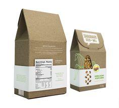 Shagbark Seed & Mill - Heirloom Popcorn Packaging on Behance