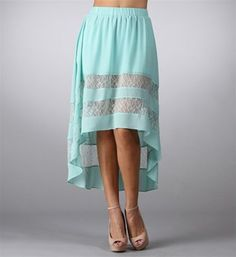 #Windsor                  #Skirt                    #Mint #Skirt #with #Lace  Mint Hi Low Skirt with Lace                                                   http://www.seapai.com/product.aspx?PID=1733840