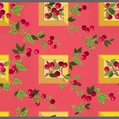 vintage wallpaper | Cherries custom vintage wallpaper | Custom vintage retro wallpaper