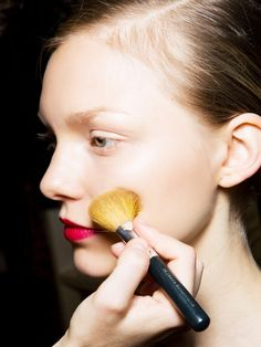 We imagine the mind of a makeup artist must swirl with brightly coloured lipsticks and creamy (but never cake-y) foundations, shiny glosses and powdery shadows, criss-crossing and intertwining...