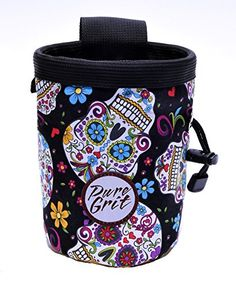 Pure Grit Day of the Dead Sugar Skull Chalk Bag (Made in…