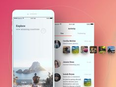 Travel app- login by Pawel Kwasnik