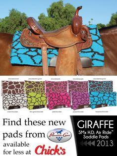 Giraffe print pad from Professional's Choice!