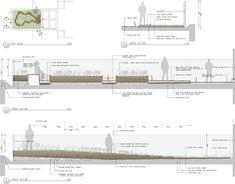 BurnleyLivingRoofs_HASSELL_Section « Landscape Architecture Platform Landscape Stairs, Front Garden Landscape, Landscape Architecture Drawing, Landscape Drawings, Cool Landscapes, Architecture Tools, Business Architecture, Architecture Student, Traditional Landscape