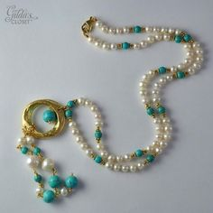 diy collar de perlas y piedras swarovski - Google Search