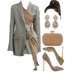 Fashion set Roc Nation's The Brunch for Grammys created via Kpop Fashion Outfits, Stage Outfits, Edgy Outfits, Classy Outfits, Fashion Dresses, Rock Outfits, School Outfits, Look Fashion, Womens Fashion