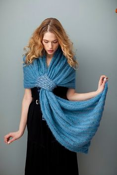 Ravelry: Grecian Turn pattern by Cathy Carron KNIT Knitted Shawls, Crochet Scarves, Crochet Clothes, Lace Shawls, Knit Or Crochet, Crochet Shawl, Ravelry Crochet, Knit Lace, Knit Cowl