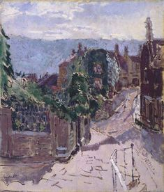 Paradise Row, Bath by Walter Richard Sickert Manchester City Galleries. Irish Landscape, Landscape Art, Your Paintings, Beautiful Paintings, John Minton, Walter Sickert, City Gallery, Sense Of Life, Bath Art