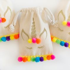 "Share the magic with your party guests and send them home with these adorable Unicorn party favor bags! Fill them with candy, tiny trinkets or small baked goods for the perfect party favor that your guests are sure to enjoy! Party bag size: 4"" x 6"""