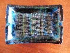 Blue Italian ashtray by Raymor by GARCIAHOUSE on Etsy