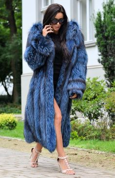 ROYAL SILVER FOX LONG FUR COAT HOOD CLASS OF CHINCHILLA SABLE MINK JACKET TRENCH