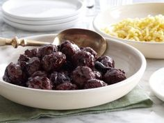 Duck Meatballs with Cherry Sauce from CookingChannelTV.com