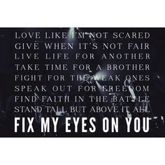 for KING & COUNTRY - Fix My Eyes.