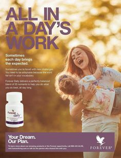 A food supplement designed to deliver 100% of the recommended daily allowance (RDA) of essential vitamins and bio-available minerals and nutrients. Forever Daily combines fifty-five perfectly balanced aloe-coated nutrients including vitamins A, C, D and B12, Iron, Calcium and Zinc. Take with the Aloe Vera Gel for best results.