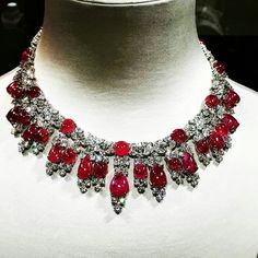 At @theblingtales. Ruby and Diamond necklace #jewellcloset