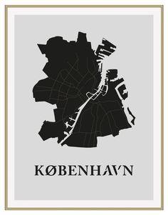 København Poster Black