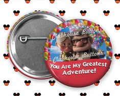 Carl and Ellie Disney Up Adventure Button Disney Up, Disney Magic, Custom Buttons, Greatest Adventure, Personal Photo, Birthday Quotes, Special Occasion, Handmade Items, Etsy