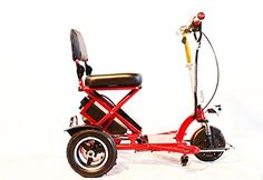 Enhance Mobility  Triaxe Sport Portable Folding Scooter  3Wheel  Red *** This is an Amazon Associate's Pin. Locate the item on Amazon website simply by clicking the image.