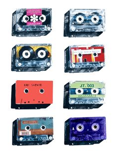 Shucks - I just donated all my old cassettes to Goodwill!  Knew there was an art project they could have been salvaged for!