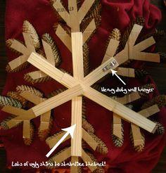 How to make a snowflake pinecone wreath