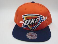 sports shoes 1dc83 8f000 Details about OKC Oklahoma City Thunder Mitchell   Ness NBA Snapback Cap Hat