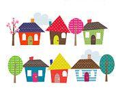 Happy Homes Clip Art