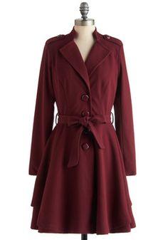 $179.99 Plum Enchanted Evening Coat, #ModCloth