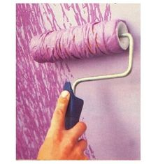 Put string around a paint roller when painting you room and get this cool design! I'm doing this with pink paint!