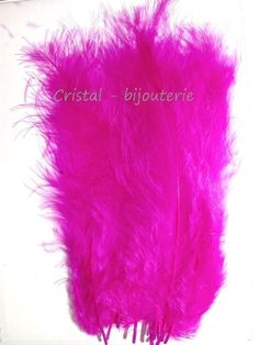 ♥PLU2-03♥ 10 PLUMAS NATURALES TEÑIDAS  FEATHER COLOR FUCSIA  13-15 CM♥