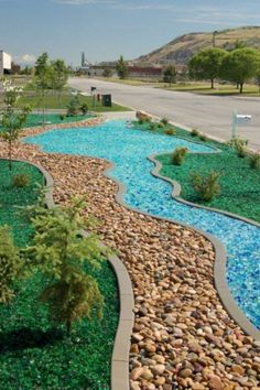 Affordable front yard walkway landscaping ideas - All For Garden Rock Walkway, Front Yard Walkway, Front Yard Landscaping, Hillside Landscaping, Rock Yard, Dry Riverbed Landscaping, Florida Landscaping, Country Landscaping, Outdoor Landscaping