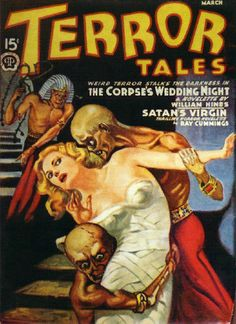 There are 2 very constant themes with old time comics. 1) Women are always so very helpless 2) Satan is involved somehow. See above exhibit A.