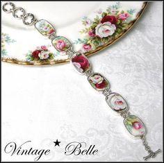 Broken China Jewelry Celebration Sterling Bracelet $228