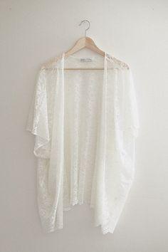 Bohemian White Ivory Lace Kimono by ShopVelvetMoon on Etsy, $59.00